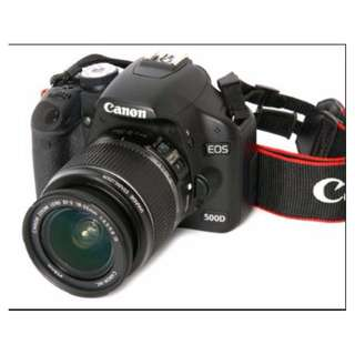 Exc Cond Canon 500D DSLR Camera - 20% cheaper than others on Carousell