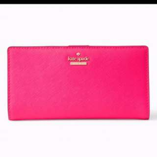 (購自英國)Kate Spade 全新 粉紅 銀包