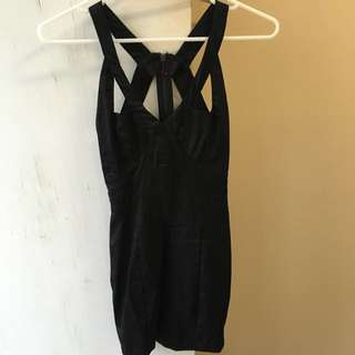 Black and Gold Mini Dress Size 6