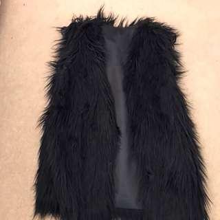 Fluffy sleeveless vest