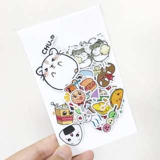 [Instock 📩] FREE NM 🤗 / Hamsters + Cute Food Planner Stickers