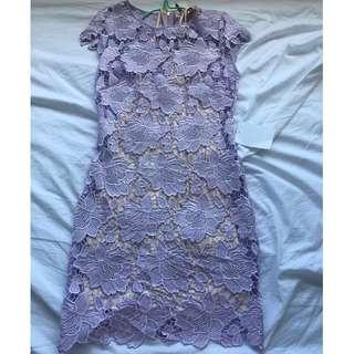 Rodeo Show Ringuet Dress (Lilac Lace Dress) AU 8