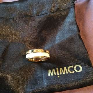 Mimco White Gold Ring Large