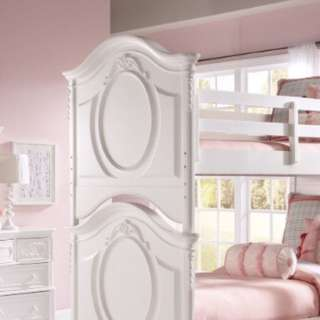 Girls beige white bunk beds or singles