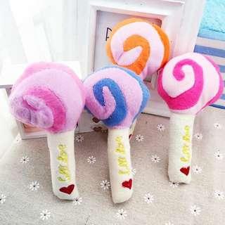 Lollipop Squeaky Toy