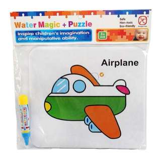 AIRPLANE WATER MAGIC + PUZZLE BOARD
