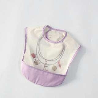 Waterproof feeding bibs-purple necklace