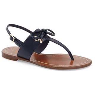 Kate Spade NEW Blue Carolina Leather Thong Sandals Size 8 7.5