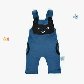 Sling pants with little cat-blue