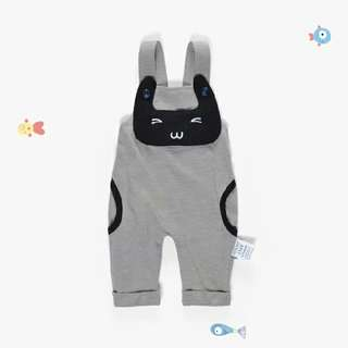 Sling pants with little cat-grey