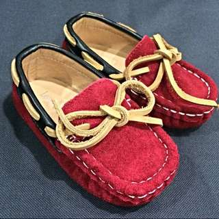 LV Suede Leather Loafer Red Size 21/22/23/24/25/26