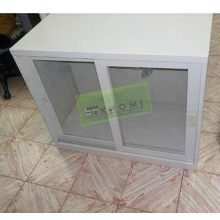 Glass Sliding Cabinet Office Partition Furniture
