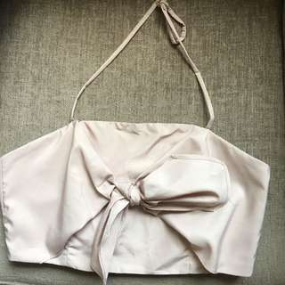 Kendall and Kylie pink bow top