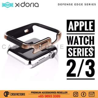 X-doria Defense Edge Gold Apple Watch Series 3 / Series 2 42mm  Mental & Rubber Case