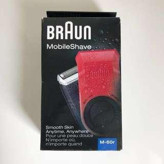 Braun M-60 MobileShave 電鬚刨 - 紅色