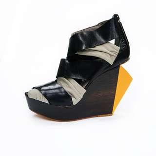 FINSK 黑灰高跟鞋