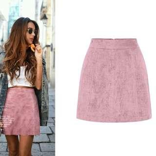 Suede A Line Skirt (size medium)