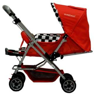 [Reversible Handlebar] Sweet Heart Paris ST50 Stroller (Red)