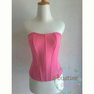 bustier shock pink  / kebaya/ baju wanita/ fashion wanita/ kain kebaya/ butik