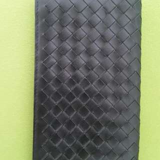 black leather BOTTEGA VENETA made in Italy WALLET women's men's