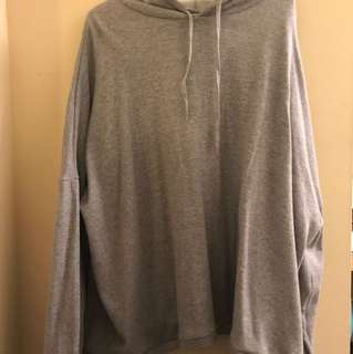 Oak + Fort Oversized Grey Hoodie