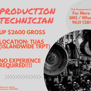 Production / Manufacturing Technicians (UP $2,600)