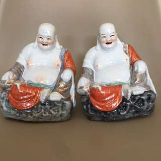 Pair of laughing Buddha
