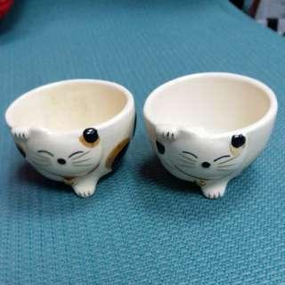 招財貓 清酒杯 一對 sake set 99% new