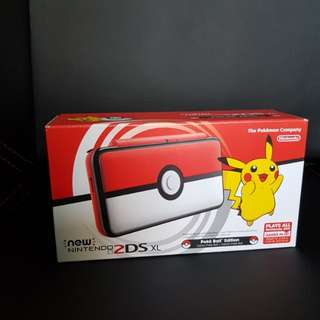 BNIB New Nintendo 2DSXL Poke ball Edition ( Limited Edition PokéBall 2DS) SEALED & Unopened brand new with FREE MODDING