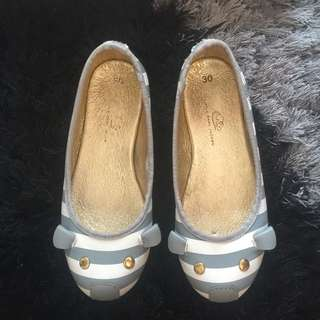 ORIGINAL LITTLE MARC JACOBS Grey & White Stripes Shoes