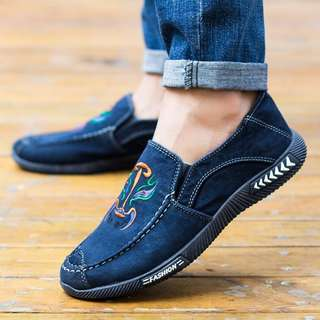 22561  Denim Canvas Comfortable Loafer Shoes