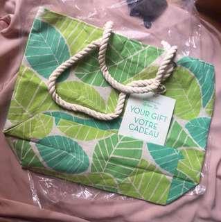 Elisabeth Arden Original Women Tote Bag Leaves Green gift (plastic bag included)