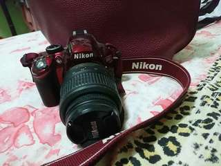 Nikon D3200 (Red Color)