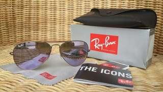 Rayban aviator sunglasses kacamata lilac mirror original authentic