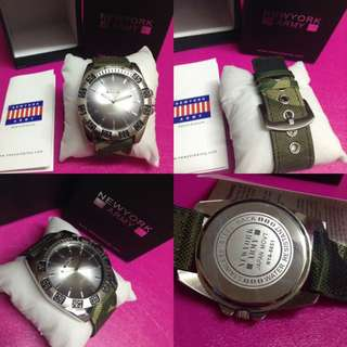 Authentic Newyork Army NYA-8851 Camo Strap Stainless Steel Watch