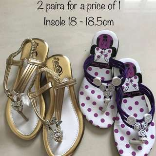 Girl's Sandals (2 pairs for a price of 1)