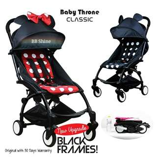 🆕Baby Throne Stroller Classic Version (New Black Frame)