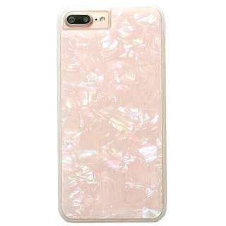 半透 仙女粉/白iPhone case