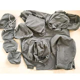 Vios Gen 3 Seat Covers Complete Set (Gray)