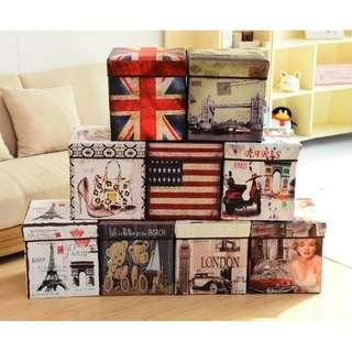 storage box kotak tempat simpan mainan majalah kursi  HHM444