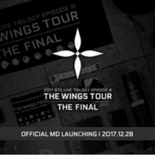 BTS THE WINGS TOUR The Final Official Merchandise [ RESTOCK ] ✨