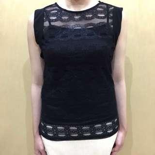 Zara tanktop t shirt asymetri