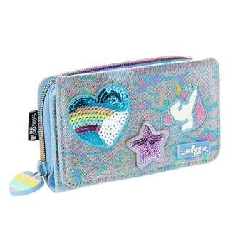 smiggle denim daze badge purse 💫
