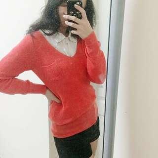 🚚 莓紅針織衫