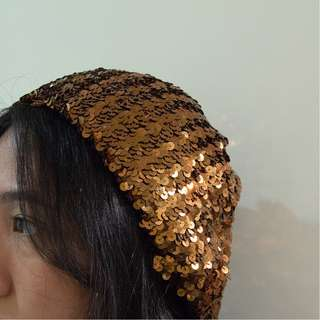 Sequined beanie - BRONZE