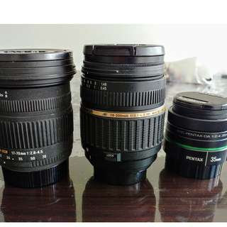 WTSell: Lens - Pentax AF Sigma, Tamron and Pentax kmount lens for sale.
