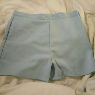 Baby Blue High Waist Short