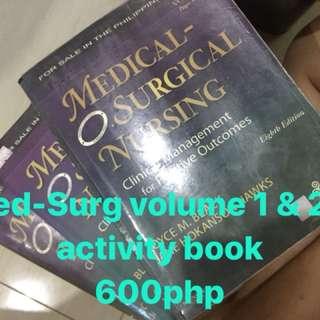 Medical Surgical Nsg vol 1&2+activity book