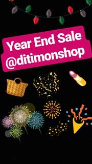 Year End Sale @ditimonshop 🎉
