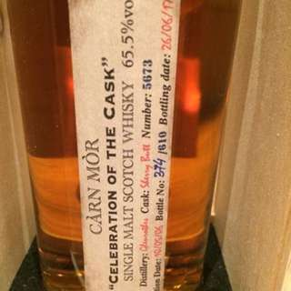 Carn mor celebration of the cask- Glenrothes 11 years single cask